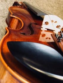 Violin angled
