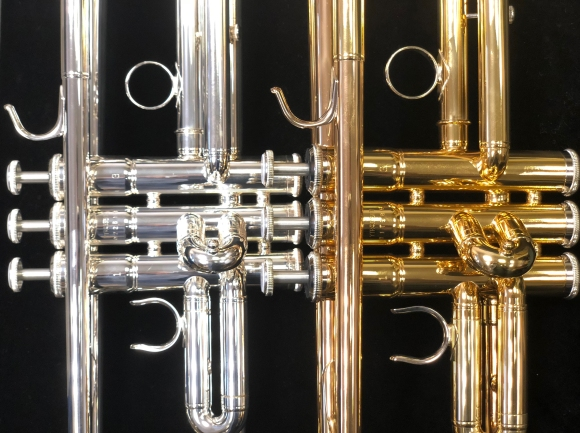 Yamaha Trumpet Pair Valves Close